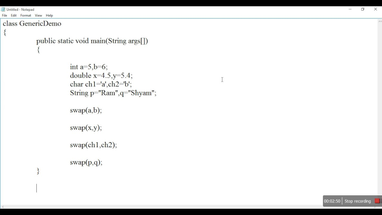 Java generics tutorial.
