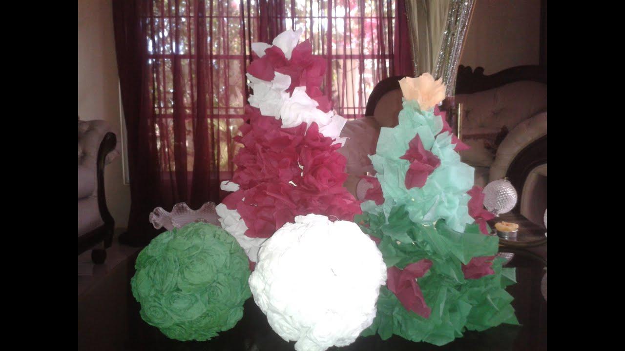 Arbol decorativo con papel crepe youtube - Como se hacen crepes dulces ...