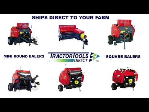 Ibex TX31 Mini Round Baler with twine • Tractor Tools Direct