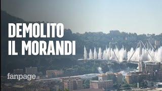 Ponte Morandi Genova, lo slow-motion (video al rallentatore) della demolizione e della esplosione