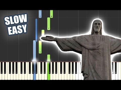 In Christ Alone   SLOW EASY PIANO TUTORIAL by Betacustic