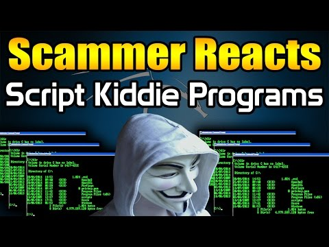 Scammer Reacts To Script Kiddie Programs + ANONYMOUS VIRUS | Tech Support Scammer Trolling