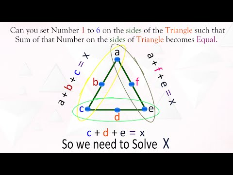 Can you make Sum of all the Sides of Triangle Equal?