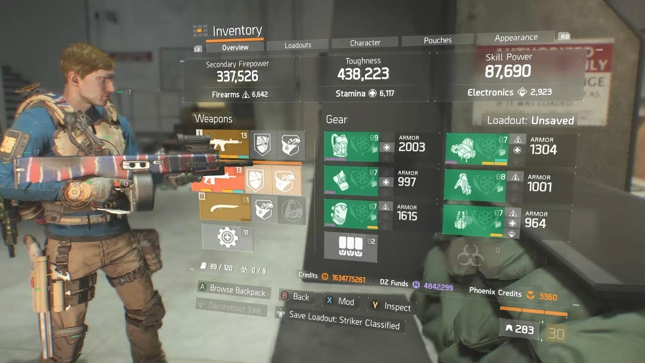 The Division   Striker Build