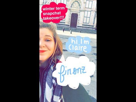 Miami University Snapchat Takeover: Travel Writing and Italian Film