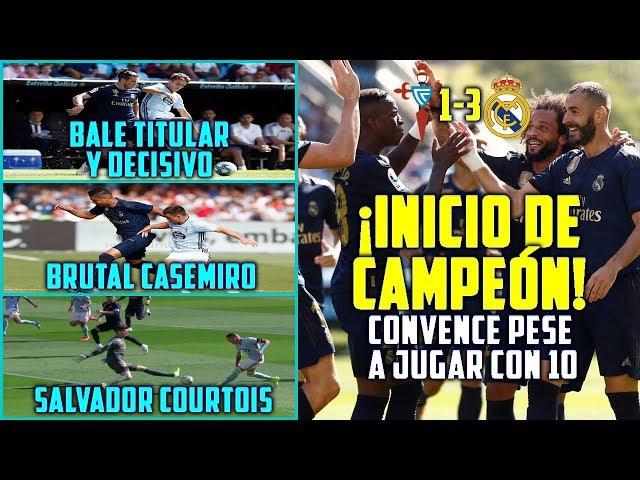 ¡INICIO DE CAMPEÓN DEL MADRID (1-3)!   BALE TITULAR Y DECISIVO   COURTOIS SALVADOR   MODRIC ROJA