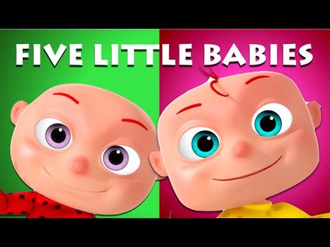 Five Little Babies Sitting On A Wall | Videogyan 3D Rhymes | Nursery Rhymes & Kids Songs