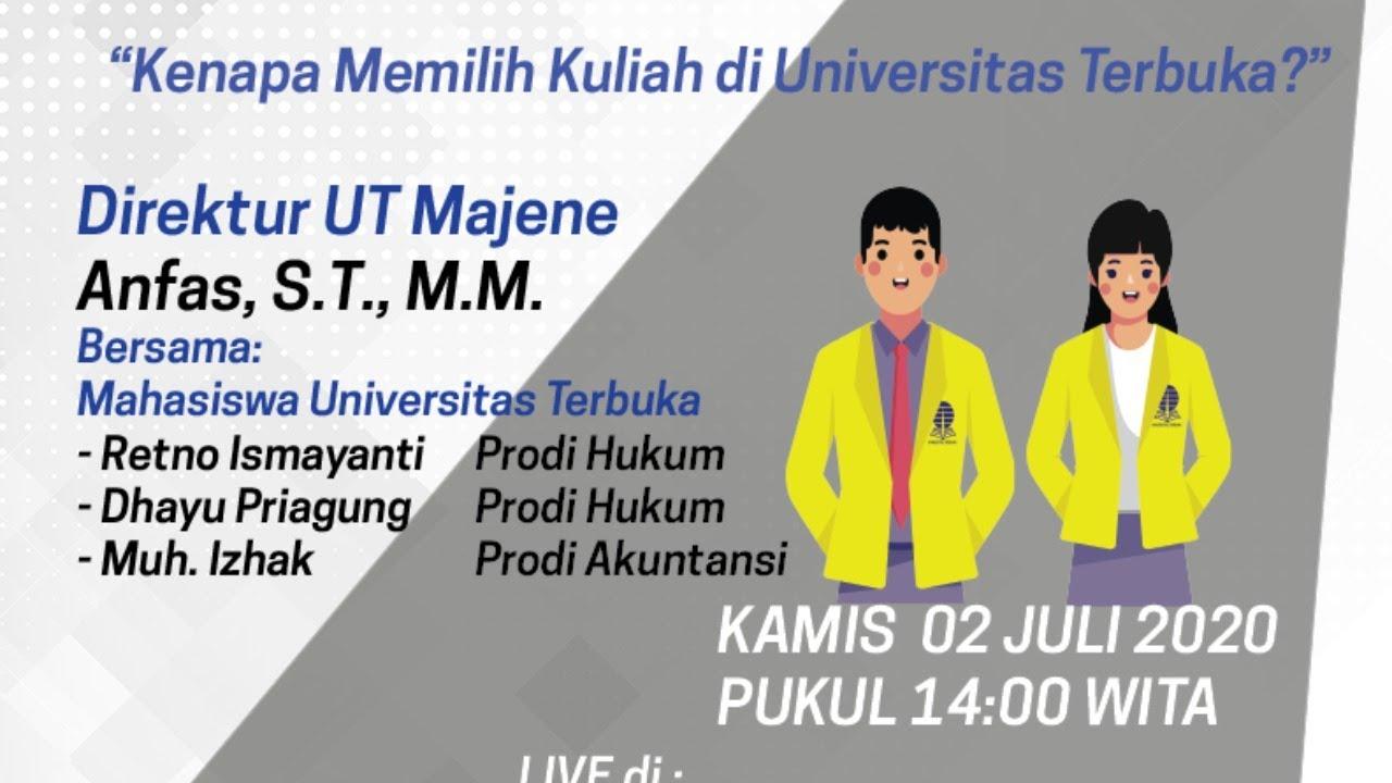 Download 🔴 Live : Bincang Santai UT Majene : Kenapa Memilih Kuliah di universitas Terbuka