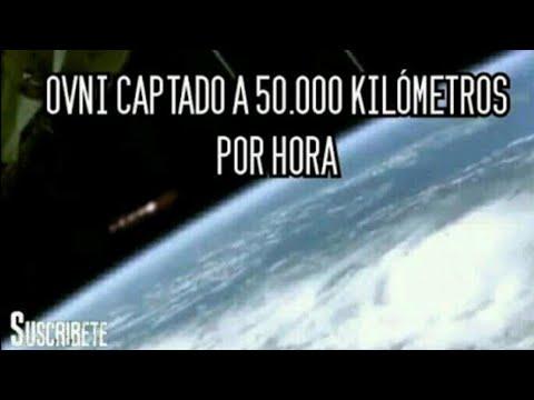 Ovni pasa junto a la Estación Espacial Internacional a 50 mil kilómetros por hora ?