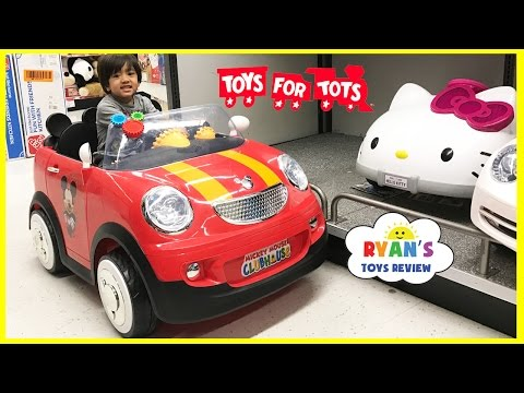 Thumbnail: TOYS FOR KIDS! TOY HUNT Shopping Trip for Toys for Tots donation for boys and girls Ryan ToysReview