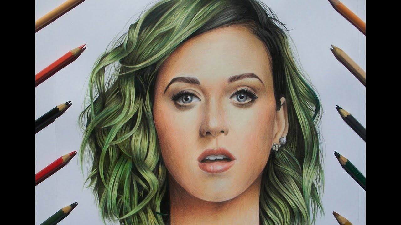 desenhando a katy perry speed drawing katy perry youtube