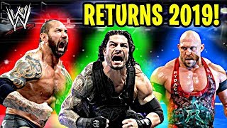 10 Most Shocking WWE RETURNS of 2019!