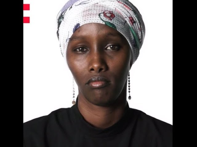 Frame of a video of Fatuma Musa Afra speaking about the Odyssey project