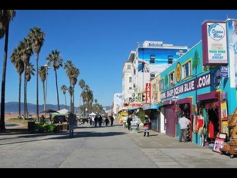 Walking Tour Santa Monica Pier And Venice Beach Los Angeles Usa