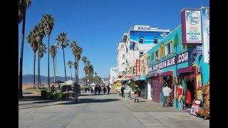 Walking Tour Santa Monica Pier and Venice Beach, Los Angeles, USA thumbnail
