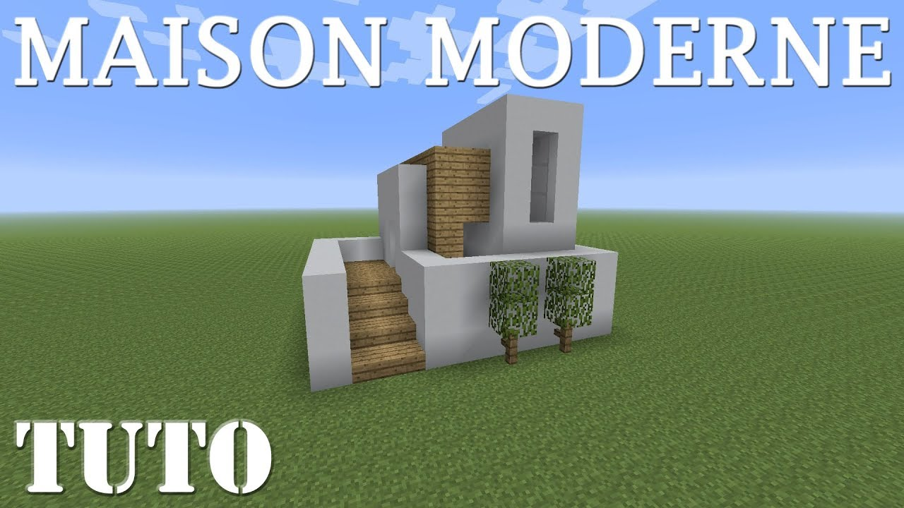 Minecraft Tuto Petite Maison Moderne Ps4 Youtube