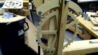 Clockwork Wooden Gears For Rotisserie