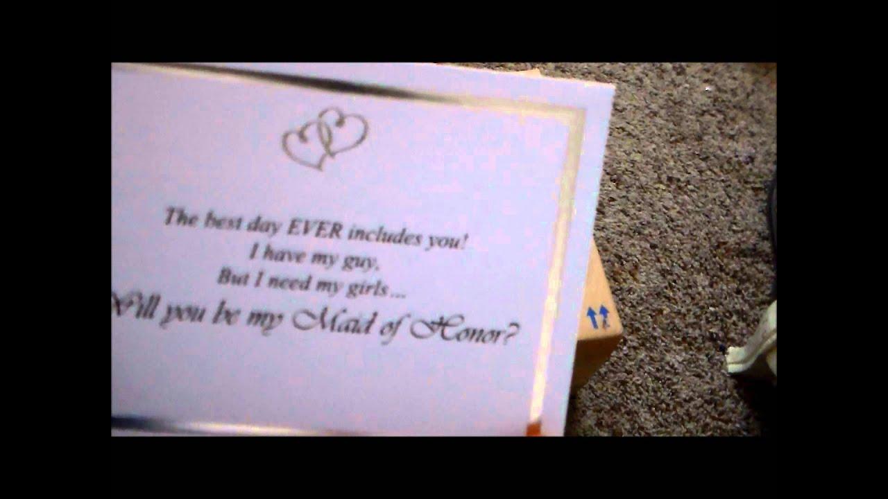 DIY Bridesmaids Invitations YouTube