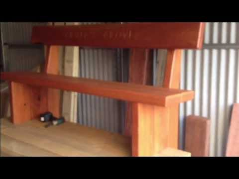 making a garden bench seat - YouTube