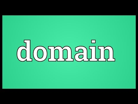 Domain Meaning
