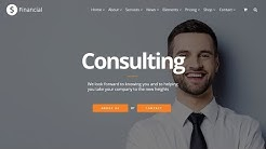 Financial WordPress Theme - Consulting Responsive Site Builder