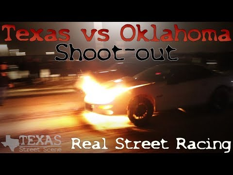 STREET RACING! COPS! DRAMA! Texas vs Oklahoma Shoot out on TEXAS STREETS!! (Watch in HD)