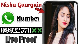 Nisha Guargain Whatsapp Number   TikTok Star Nisha Guargain Phone Number   Nisha Guargain