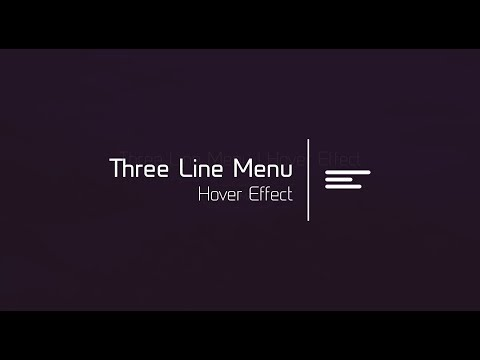 Hamburger Icon Animation | HTML & CSS