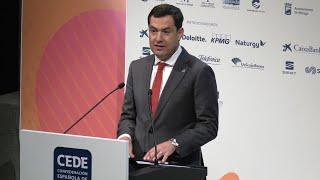 Moreno dice que el modelo andaluz atrae inversiones y crecimiento económico