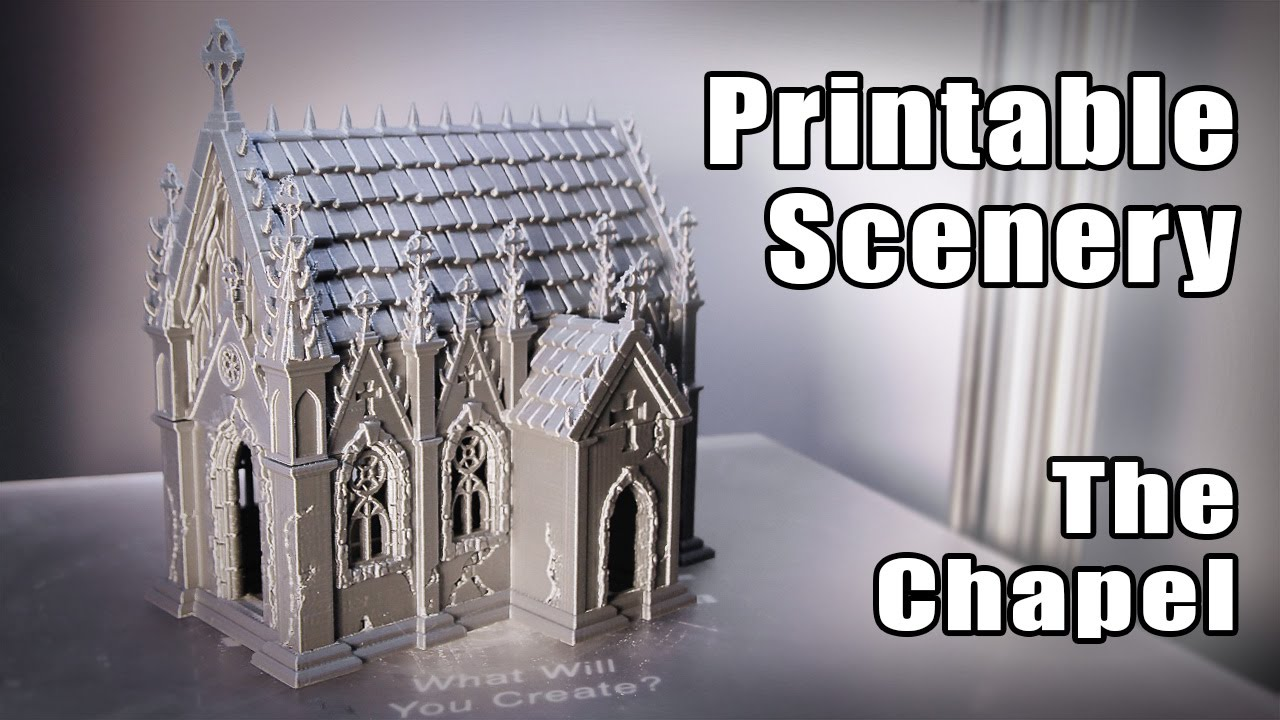 gMax 1 5+ 3D Printer Silver Chapel from Printablescenery com