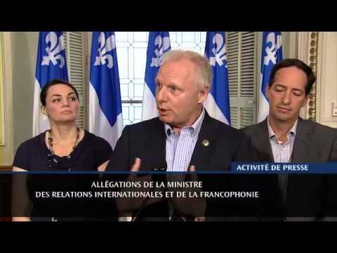 Allégations de Christine St-Pierre - Point de presse de M. Jean-François Lisée