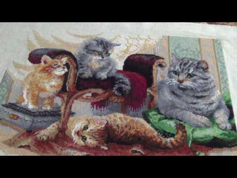 Вышивка кошек крестиком