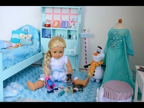 American Girl Doll Disney Frozen Elsa's Bedroom ~ Watch in HD!