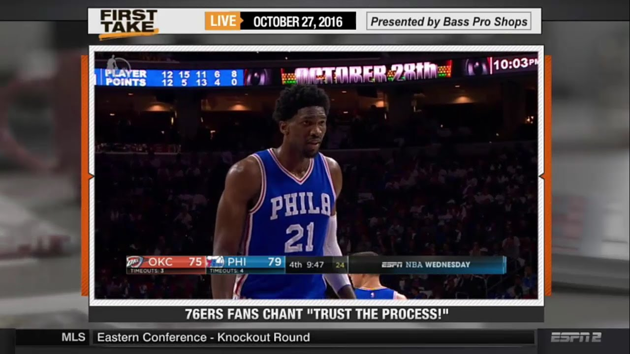 "Philadelphia 76ers Fans Chant ""Trust The Process!"""