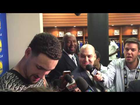 """Draymond sends Klay's interview into tailspin, """"It's a nice sweater, hater"""""""