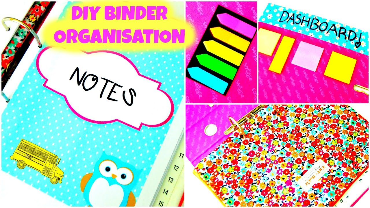 Diy Organization Binder How To Organize Your Binder Diy Tips