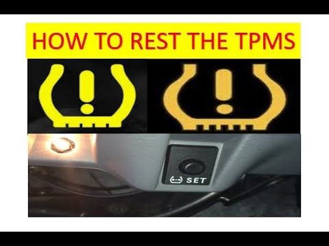Setting Tire Pressure Warning Light On Toyota Tundra