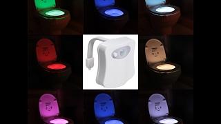 جهاز اضاءة قاعدة تواليت المرحاض بحساس الحركة 8 الوان مختلفة Light Bowl Toilet LED Nightlight