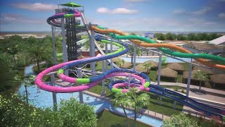 New Infinity Racers head-first slide at Schlitterbahn Waterpark Galveston
