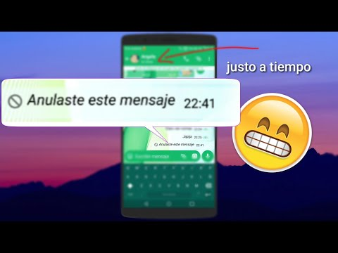 Anular mensajes enviados por error 😱 - WhatsApp