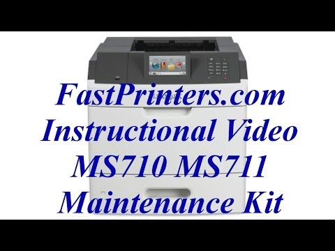Installing the Lexmark MS710 MS711 fuser maintenance kit 40X8530 40X8503
