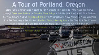 Tour of Portland, Oregon: Interstates and Downtown