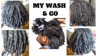 Curl Definition For Type 4 Hair | Try This Combo For Juicy Twist | My First Wash N Go