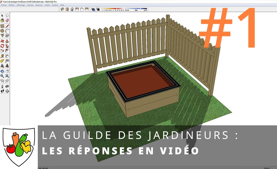 t l charger les carr s de potager dans sketchup youtube. Black Bedroom Furniture Sets. Home Design Ideas