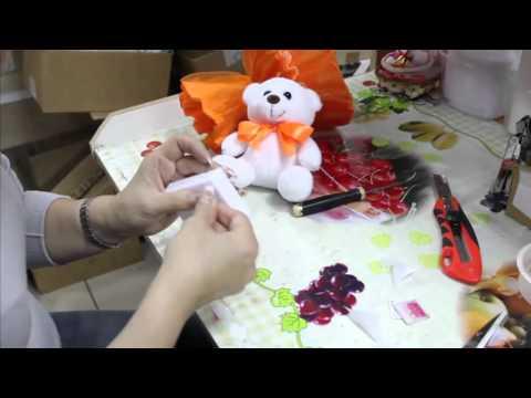 Смотреть онлайн Как сделать своими руками букет с одной съемной игрушкой.