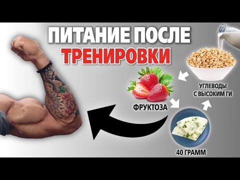 Лучшее питание после тренировки для набора мышечной массы