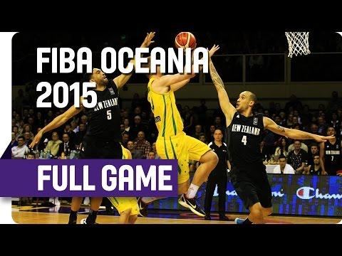 Tall Blacks (NZL) v Boomers (AUS) - Game 2 - Full Game - 2015 FIBA Oceania Championship