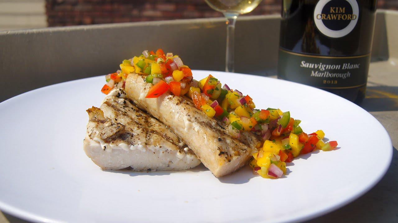 Grilled Mahi Mahi With Mango Salsa Recipe Youtube
