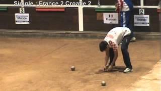 Finale simple et fin combiné, championnat du monde  18, Eybens 2012