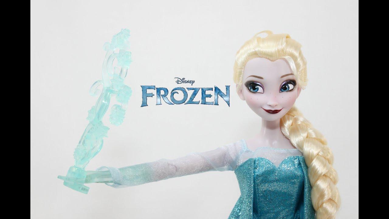 Disney Store Frozen 2015 Singing Elsa Deluxe Feature